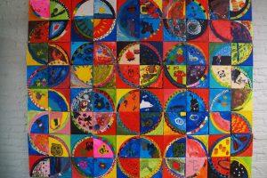Een prachtig gezamenlijk kunstwerk in school